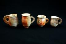4 kleine Porzellantassen - 2007 - 9cm hoch
