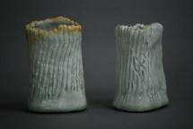 CK 2 Porzellangefäße Seladon - 2014 - H: 11cm / 13cm - Preis: 45€ / 75€