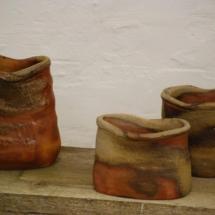 Drei gebaute Gefäße von Carola Krüger