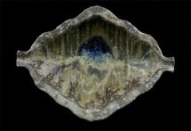Schale blauer See - 2006 - 25x18x9cm